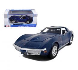 Corvette 1970 Coupe Blue 1/24 Diecast