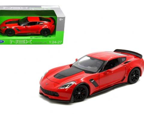 Welly 1:24 W/B - 2017 Chevrolet Corvette Z06 (Red)