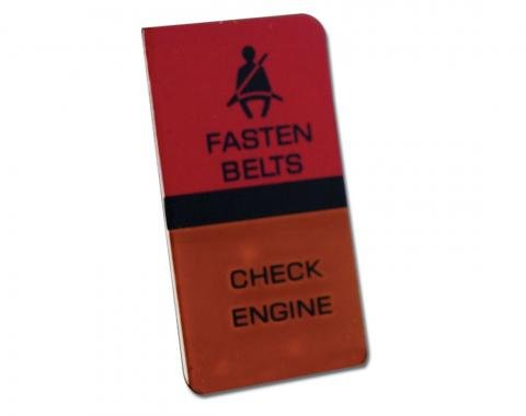 Corvette Lens, Seat Belt Warning/Check Engine, 1980-1982