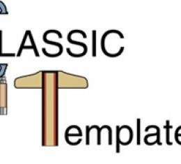 Classic Headquarters Front Antenna Template Kit W-728