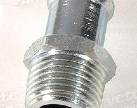 Corvette Heater Hose Fitting, on Intake With Air Conditioning, 1975-1982