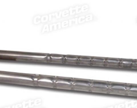 Corvette Side Exhaust Pipes, 327 2.5 Inch Aluminized, Loud, 1965-1967