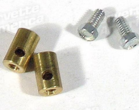 Corvette Decklid Release Rod Stops with Screws, 1968-1975