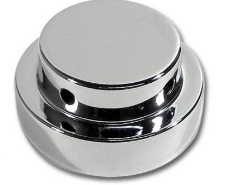 Corvette Radiator Reservoir Cap Cover, Chrome, 1978-1996