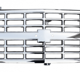Key Parts '88-'93 Custom All Chrome Grille for Trucks with Composite Headlights 0852-044G