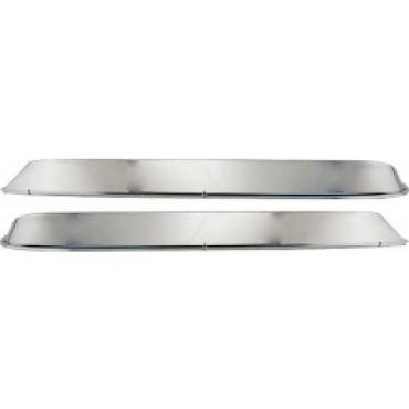Ford Pickup Truck Window Shades, Polished Stainless Steel, F100 Thru F350, 1973-1979
