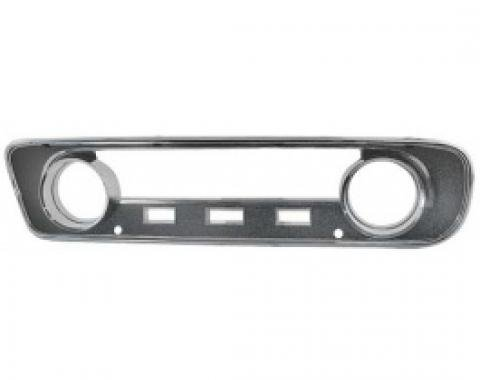 Ford Mustang Instrument Bezel - Black Plastic Camera Case Finish And Chrome