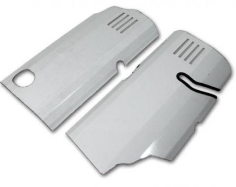 Corvette Fuel Rail Covers, Stainless Steel, 1997-1998