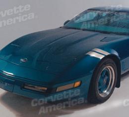 Corvette Front Fender Accent Stripes, Silver, 1984-1996