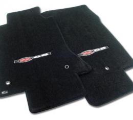Corvette Mats, Black with Z06 Applq, 2001-2004