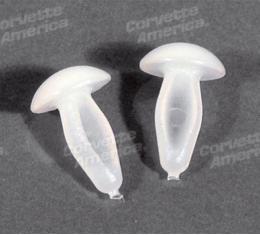 Corvette Top Shield Rivets, Plastic 2 Piece Set, 1965-1967
