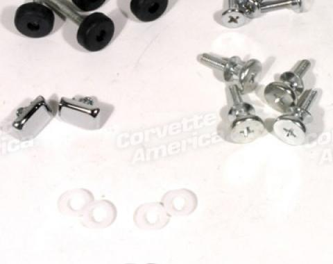 Corvette Seat Hardware Repair Kit, with Buttons, 1974-1978