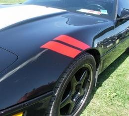 Corvette Front Fender Accent Strips, Red, 1984-1996