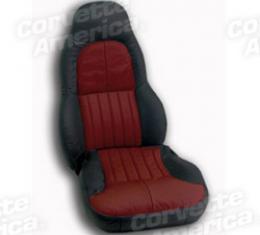 Corvette America 1997-2004 Chevrolet Corvette Custom 100% Leather Seat Covers Standard Black & Firethorn 43860