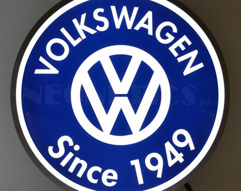 Neonetics Backlit and Specialty Led Signs, Volkswagen Since 1949 Backlit 15 Inch Led Lighted Sign