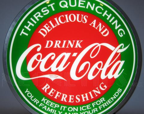 Neonetics Backlit and Specialty Led Signs, Coca-Cola Evergreen 15 Inch Backlit Led Lighted Sign