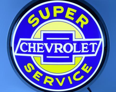 Neonetics Backlit and Specialty Led Signs, Super Chevrolet Service 15 Inch Backlit Led Lighted Sign