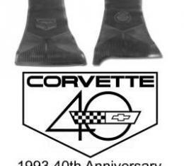 Corvette Mats, Black Corvette 40th Anniversary, 1993