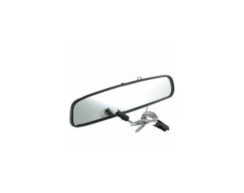 """0"""" Inside Rear View Mirror w/MAP Light, Black Back"""