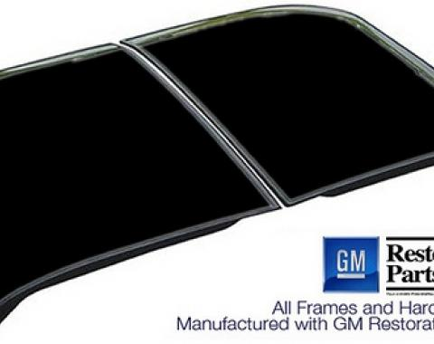 Corvette Roof Panel, T-Top, Reflective Glass, Black, Driver Side, 1968-1982