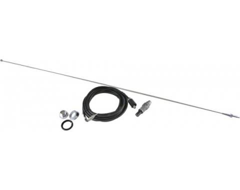Corvette Standard Antenna Kit, Fixed Mast, 1967-1968