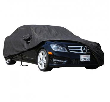 MERCEDES-BENZ 600SL Waterproof Max Series Car Cover, Black with Mirror Pockets, 1992-1993