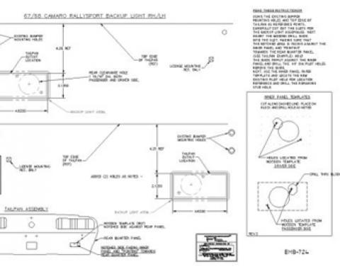 Classic Headquarters Rallysport Back-Up Light Template Kit W-724