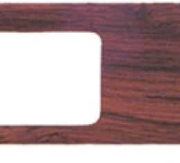 Classic Headquarters Dash Wiper Woodgrain Plate W-385