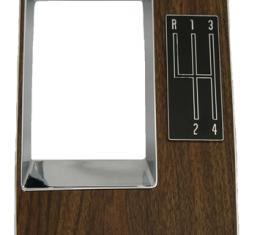 Classic Headquarters 4 Speed Shift Plate W/4sp Pattern W-368