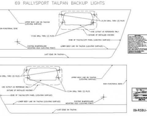 Classic Headquarters Rallysport Back-Up Light Template Kit W-727