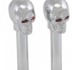 Door Lock Knobs, Chrome Skulls With Red Glowing Eyes, 1955-79