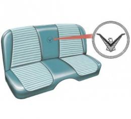 Ford Thunderbird Seat Covers, Dresden Blue With Starmist Blue Inserts, Embossed, 1957