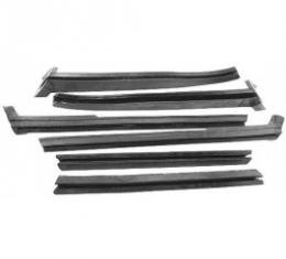 Ford Thunderbird Roof Side Rail Seal Kit, 6 Pieces, Convertible, 1958-60