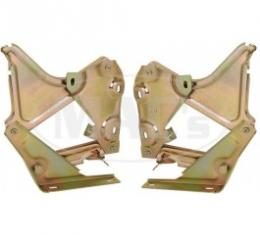 Ford Thunderbird Hood Hinges, Yellow Cadmium Plated, Right & Left, 1961-66