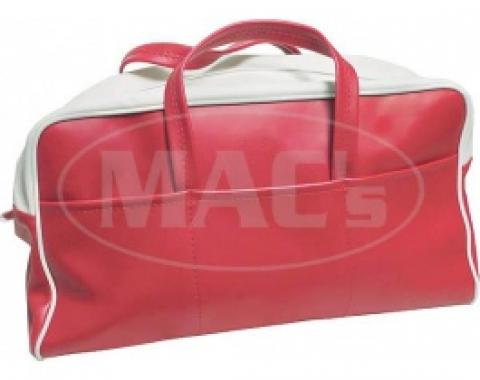 Ford Thunderbird Tote Bag, Red & White, 1955
