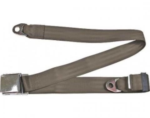 "Seatbelt Solutions 1949-1979 Ford | Mercury Lap Belt, 74"" with Chrome Lift Latch 1800743008 | Medium Beige"