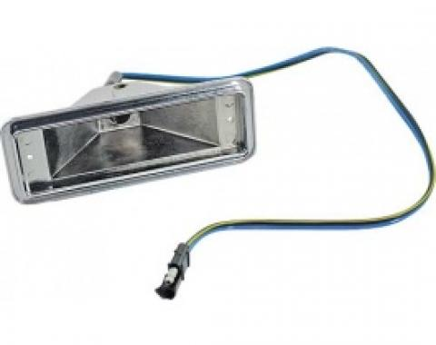 Ford Thunderbird Parking Light Body, Steel, With Correct Wire Pigtail, Black, 1958-60