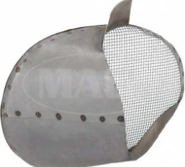 Ford Thunderbird Air Duct Scoop, Right, Steel, With Screen, 1955-57