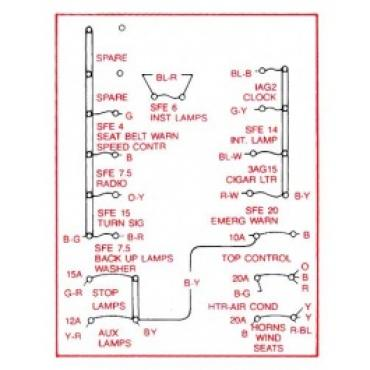 Ford Thunderbird Kick Panel Decal, Schematic For Fuse Box, 1964Muscle Cars & Classics