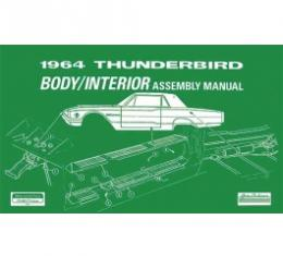1964 Thunderbird Body And Interior Assembly Manual, 92 Pages
