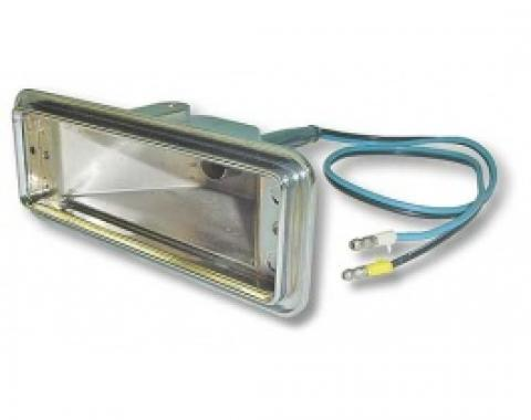 Ford Thunderbird Parking Light Body, Includes Correct Wire Pigtail, 1957