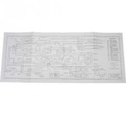 Wiring Diagram, 34 X 14 Fold-Out Type, 1955
