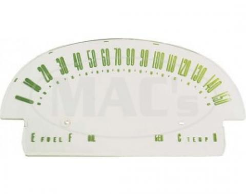 Ford Thunderbird Speedometer Face Plate, With Recessed Numbers, 1955-56