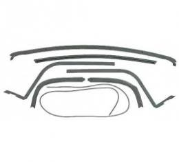 Ford Thunderbird Hard Top Roof Rail Seal Kit, 7 Pieces, From 3-1-56