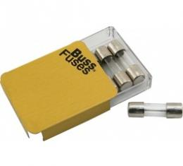 Glass Tube Fuses, SFE-9, Set Of 5 Pieces, For The Map Light, 1955-57