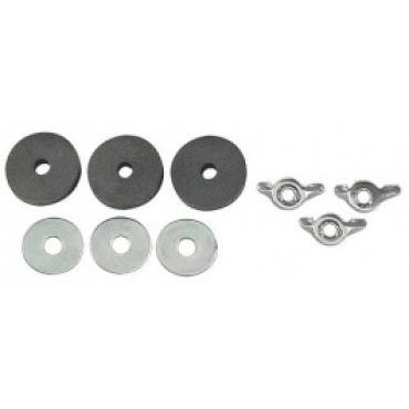 Ford Thunderbird Battery Hold Down Nut & Washer Set, For Group 32N Battery, 1956-57
