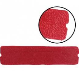 Ford Thunderbird Vinyl Pad, Bright Red, For Bottom Of Door Armrest Pull, 1965-66