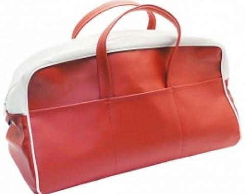 Ford Thunderbird Tote Bag, Red & White, 1956
