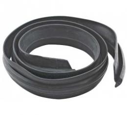 Ford Thunderbird Convertible Top Outer Front Seal, Rubber, Black, 1961-66