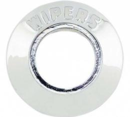 Ford Thunderbird Wiper Switch Bezel, Chrome With Clear Letters, 1960